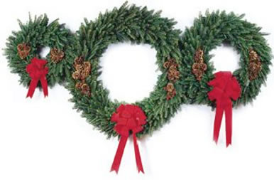 Holiday wreath for December choral event